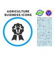 cow award seal rounded icon with set vector image vector image