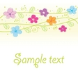 Cute floral card vector | Price: 1 Credit (USD $1)