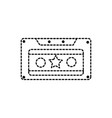 dotted shape old cassette retro object stereo vector image