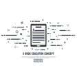 E book concept vector image vector image