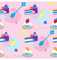 Elegant Cup Cakes Seamless Pattern vector image