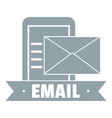 email logo simple gray style vector image