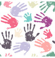 family handprint seamless pattern vector image vector image