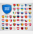 flags countries european continent vector image