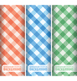 gingham multicoloured vector image vector image