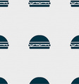 Hamburger icon sign Seamless pattern with vector image vector image