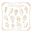 Hand drawing set of ice cream vector image vector image