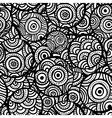 Hand drawn ethnic circles seamless vector image vector image