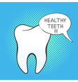 hand drawn pop art of white tooth vector image vector image