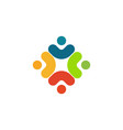 human logo mutual aid icon people together vector image vector image
