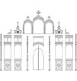 iconostasis module architectural object vector image vector image