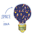 Idea lightbulb space vector image vector image