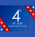 Independence day 4th july festive banner with