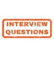 Interview Questions Rubber Stamp vector image vector image