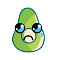 kawaii crying and nice avocado fruit vector image vector image