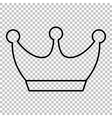King crown line icon vector image