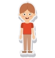 little boy avatar isolated vector image