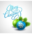 Merry Christmas card with Lettering vector image vector image