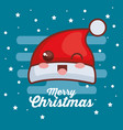 merry christmas hat character vector image