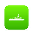 military warship icon digital green vector image vector image