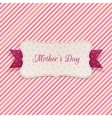Mothers Day Holiday Banner with festive Ribbon vector image vector image