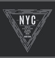 new york tee print with boroughs names vector image vector image