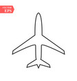 plane line icon on white background eps10 vector image vector image