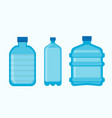 plastic bottles empty with lids icons vector image