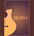 poster with musical instruments live music vector image vector image