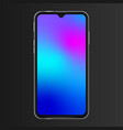 realistic phone screen template no notch front vector image vector image