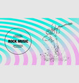 rock guitar player jumping with guitar vector image