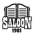 saloon texas logo simple style vector image vector image