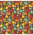 Seamless pattern with cartoon birds vector image