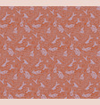 seamless pattern with fishes wood cut style vector image