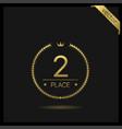 second place laurel wreath icon vector image
