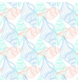 shells vintage seamless pattern hand drawn marine vector image vector image