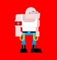 skinhead isolated football hooligan angry bad vector image vector image