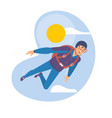 skydiving man parachuting sport skydiver vector image vector image