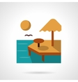 Summer rest flat color icon vector image vector image