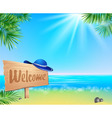 Summer seaside view poster vector image vector image