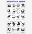 symptoms of thyroid disease symptoms of vector image