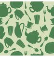 Tea set seamless vector image vector image