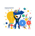 teamwork page design vector image vector image