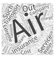 Will Insurance Cover Air Ambulance Transport Word vector image vector image
