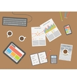workplace office desk vector image vector image
