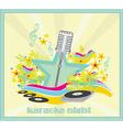 karaoke party design vector image