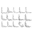Border corners and vignettes elements set vector image
