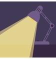 Desk lamp light icon vector image
