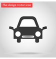 with the shadow Icon gray flat car design vector image