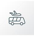 airport shuttle icon line symbol premium quality vector image vector image